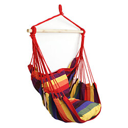 Deluxe Rainbow Hammock Hanging Patio Tree Sky Swing Chair Outdoor Porch Lounge