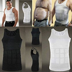 Men Body Slimming Tummy Shaper  shirt Vest