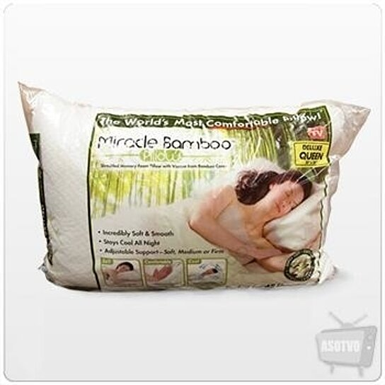 Buy Miracle Bamboo Original Shredded Memory Foam Pillow Queen By Rhingo Pro On Opensky