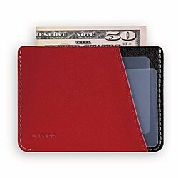Ikepod Micro Slim Card Wallet [ Italy Made//Top Leather] Both for Men and Women [RFID Blocking and Slim Stitching]