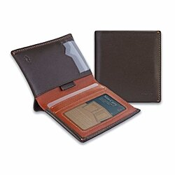 IKEPOD Slim Carry Men Bifold Wallet (8 Color) Italy Leather RFID Front Pocket Billfold with ID Window