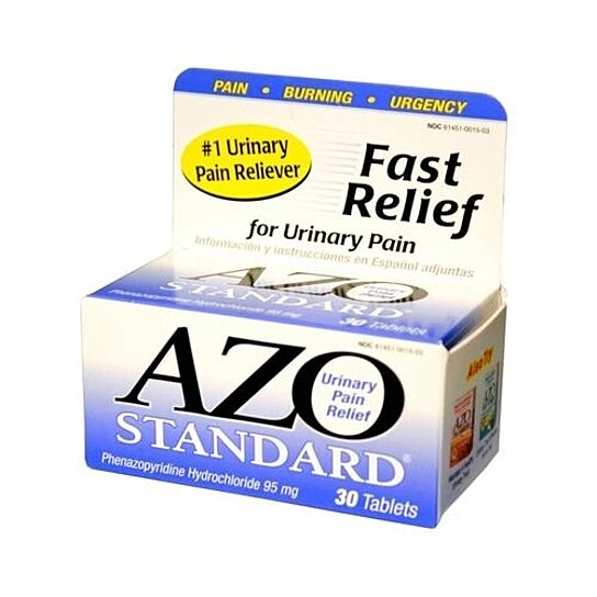 azo standard Azo standard treats urinary pain which is commonly described as a burning sensation during urination urinary pain is commonly caused by a urinary tract infection which may also cause a frequent desire to urinate.