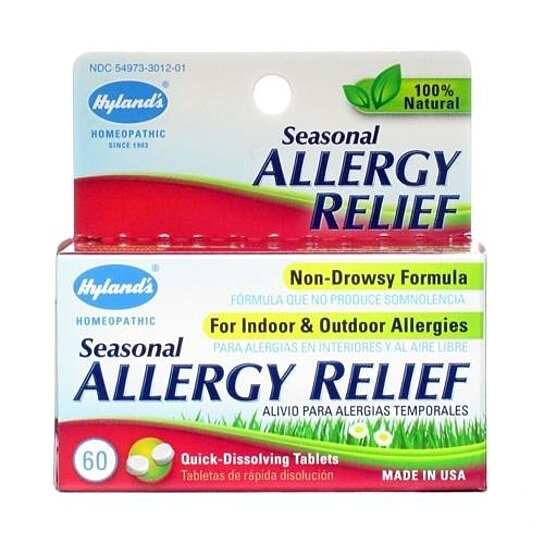 Buy Hylands Homepathic Seasonal Allergy Relief - 60 Tablets by Better ...