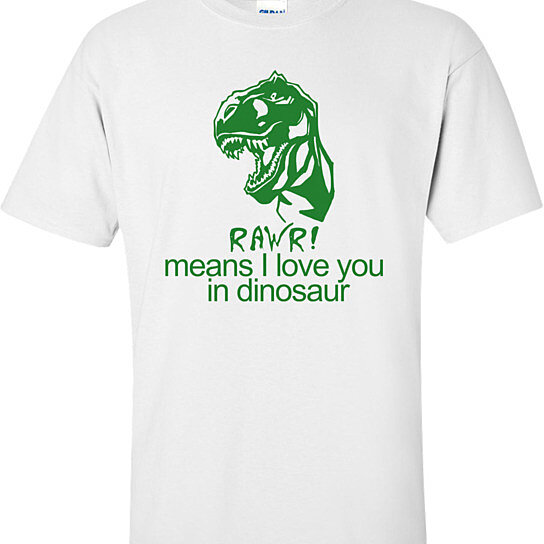 Buy Rawr! Means I Love You In Dinosaur Funny T-shirt by ...