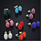 14 Pair Set of Genuine Austrian Crystal Ball Stud Earrings