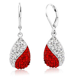 15 CTTw Swarovski Elements Drop Fancy Earrings