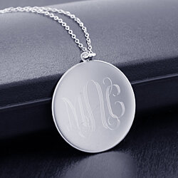 18K Gold Personalized Monogram Necklace