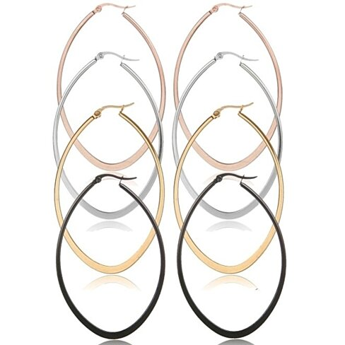 4 Piece Gold PLated Hoops Set