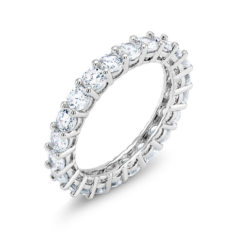 8 CTTW Simulated Diamond Eternity Band