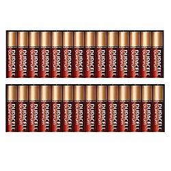 Duracell Quantum Alkaline-Manganese Dioxide AAA Battery, 1.5V, -4 to 130 Degrees F (Pack of 24)