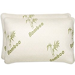 2PACK- Premium Bamboo Memory Foam Pillows