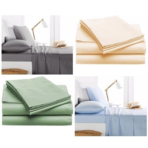Buy 4pc set solid color bed sheets ultra soft wrinkle for How to buy soft sheets