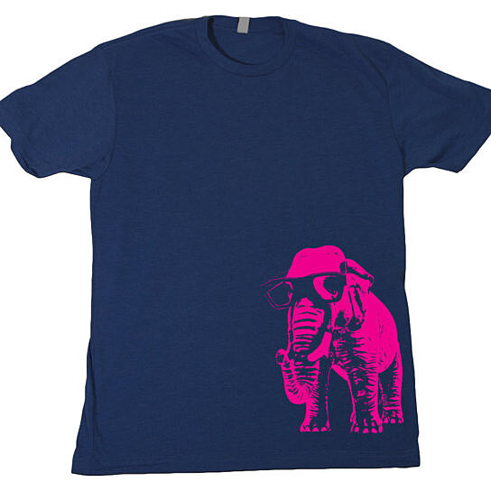 Buy elephunk mens t shirt funky elephant groovy funny pink for Mens 5x polo shirts