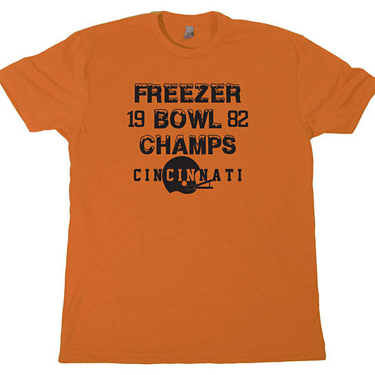 Buy freezer bowl champs mens t shirt football cincinnati for Vintage bengals t shirts