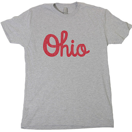 Buy ohio script mens t shirt buckeyes state college for Ohio state shirts mens