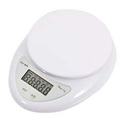 Digital Scale for Food, 5Kg Kitchen Mail Kitchen Digital Scale, White LCD Digital Scale Kitchen Scale for Home