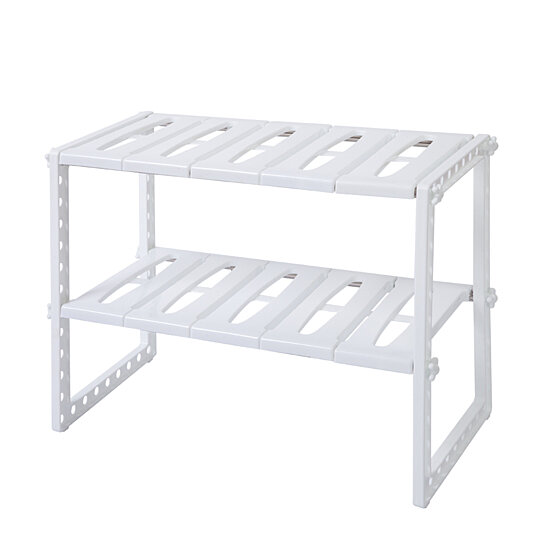 Dish Drying Rack, 2 Tier Sink Rack for Kitchen, Dish Sink Rack, White  Stainless Steel Multi-functional Kitchen Sink Rack