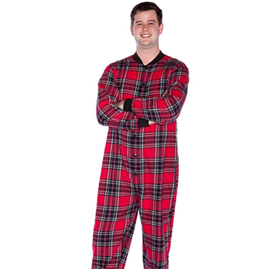 WebUndies has men's footie pajamas that even include hoods, so you're covered – from head to toe! You'll feel like a kid again when you pull on a pair of footie pajamas with your favorite childhood cartoon characters on them.