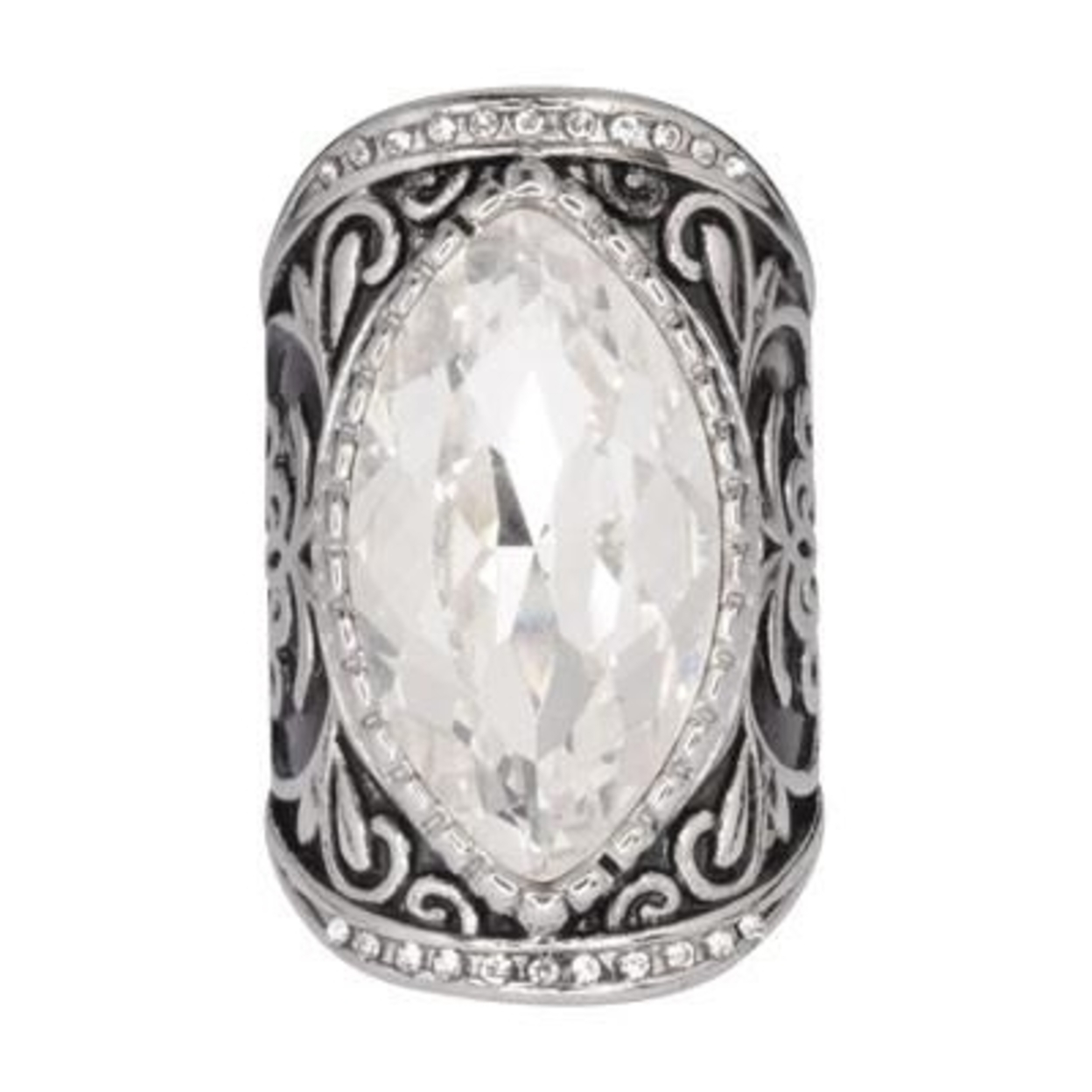 Sk1745 Ladies Big Crystal Fancy Design Ring Stainless Steel Motorcycle Jewelry Size 6-10 - 6 59d561dcc98fc405100f818e