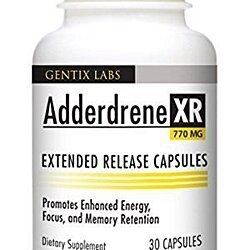 Adderdrene XR Increases Brain Function Mental Focus Attention ADD ADHD Clarity