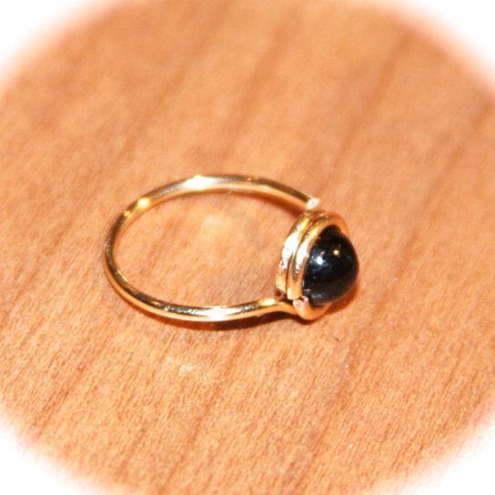 buy small genuine black onyx cartilage ring black onyx