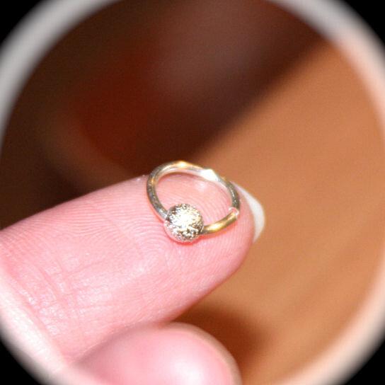 Buy Small Sterling Silver Nose/Cartilage Earrings, 18 20 22 24 Gauge, Nose  Ring, Nose Hoop, Helix Hoop, Nose Rings Piercing Jewelry By Birch Bark  Design 2 ...