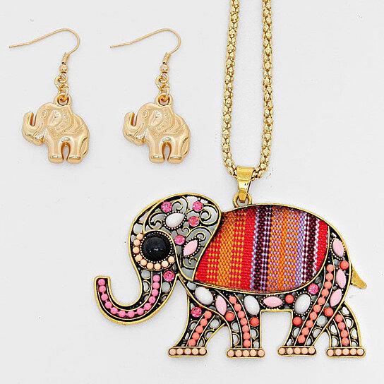Delta Sigma Theta Earrings: Buy Delta Sigma Theta Inspired Boho Bead Elephant Pendant