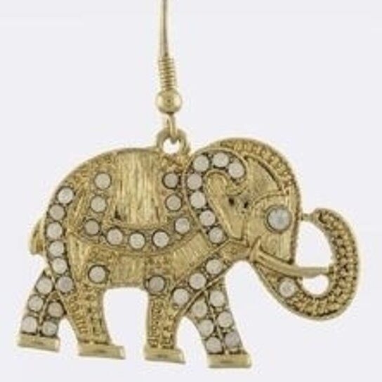 Delta Sigma Theta Earrings: Buy Delta Sigma Theta Inspired Elephant Ornate Drop