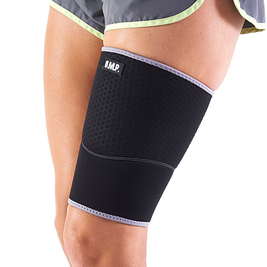 44b173f84c5 Buy Black Mountain Products Extra Thick Warming Blue Thigh Brace   Thigh Compression  Sleeve - Therapeutic Warming Sensation. by Black Mountain Products