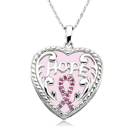 buy breast cancer awareness necklace in silver by black
