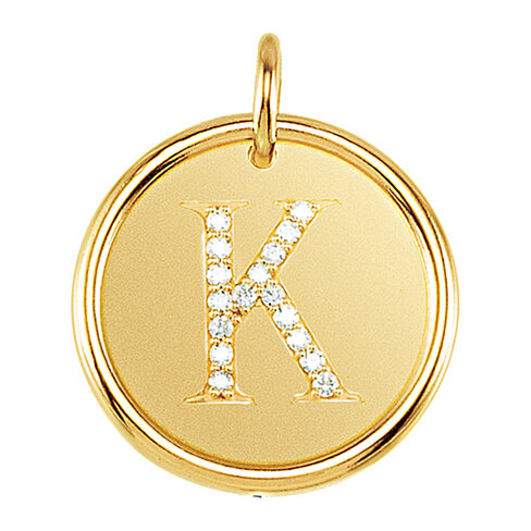 K Letter In Diamond Ring jewelry fine necklaces pendants black bow jewelry company