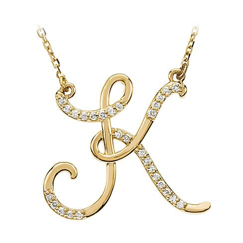 K Letter In Gold ... 14 Karat Yellow Gold Letter K by Black Bow Jewelry Company on OpenSky
