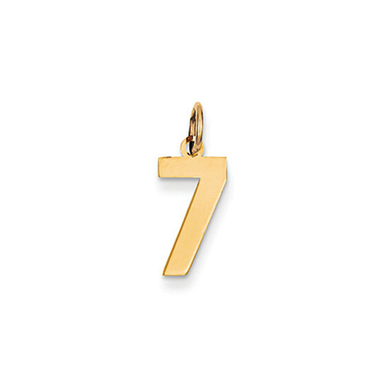 buy the athletic small polished number 7 pendant in 14k