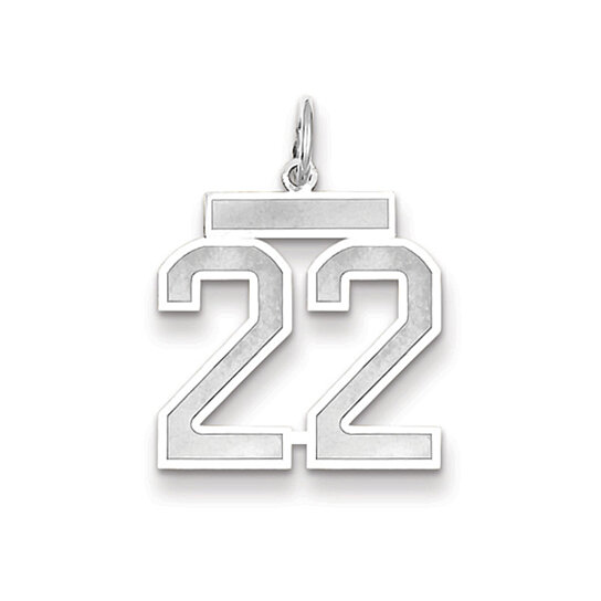 Buy The Jersey Medium Jersey Style Number 22 Pendant in ...