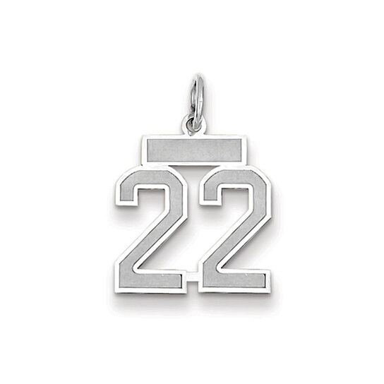 Buy The Jersey Small Jersey Style Number 22 Pendant in 14K ...