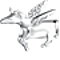 Bling Jewelry 925 Silver Pegasus CZ Winged Horse Unicorn Charm Fits Pandora