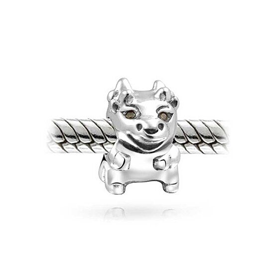 buy bling jewelry 925 sterling bull cow animal bead charm
