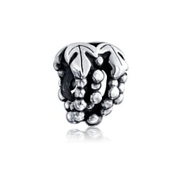 Bling Jewelry 925 Sterling Silver Grapes Charm Bead Pandora Compatible