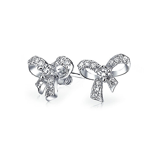 da3e13df7 to cart 52 times in the last 24 hours. Bling Jewelry 925 Sterling Silver  Pave CZ Petite Ribbon Bow Stud Earrings