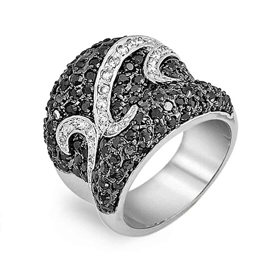 buy bling jewelry deco black and white cz cocktail