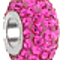 Bling Jewelry Hot Pink Swarovski Crystal Bead Sterling Silver Charm Fits Pandora