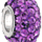 Bling Jewelry Purple Swarovski Crystal Bead Sterling Silver Charm Fits Pandora