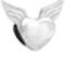 Bling Jewelry Sterling Silver Angel Wings Heart Charm Bead Pandora Compatible