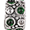 Bling Jewelry Sterling Silver Caviar CZ Emerald May Birthstone Bead Fits Pandora