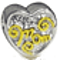 Bling Jewelry Two Tone 925 Sterling Silver Mom Charm Bead Pandora Compatible