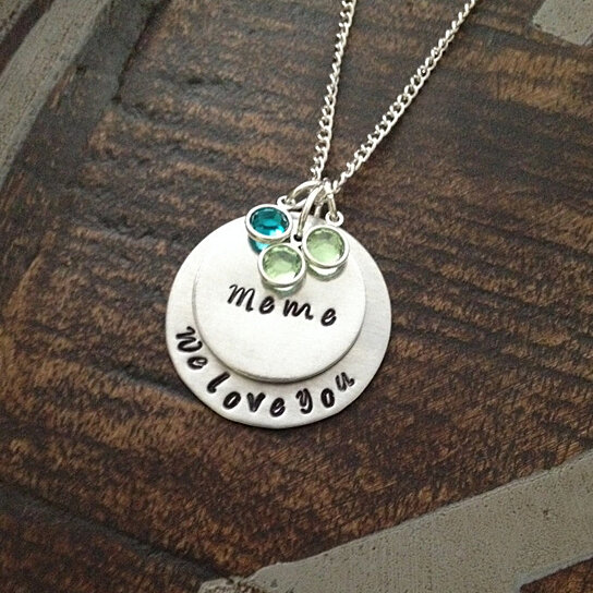 Buy Meme Necklace Grandchild Necklace Personalized