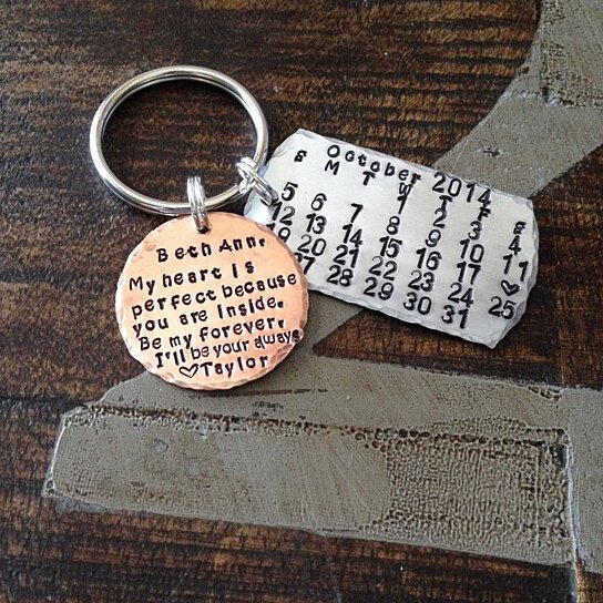 Buy Personalized Keychain Personalized Calendar Save The