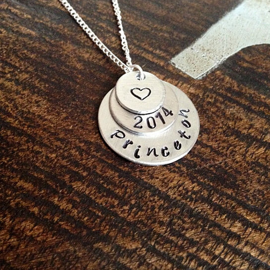 Buy Princeton Hand Stamped Necklace Princeton University