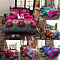 4Pcs/Set Fashion Flower Print Duvet Cover Sheet Pillow Cover Beddings Bed Decor