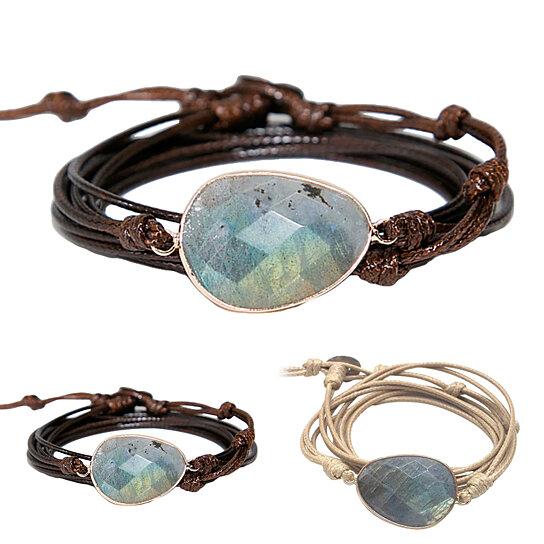 boho labradorite unisex bracelet